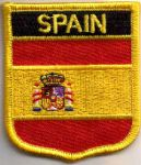 Spain Embroidered Flag Patch, style 07.